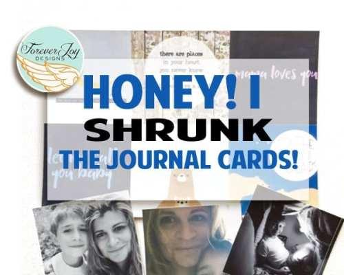Honey! I Shrunk the Journal Cards!