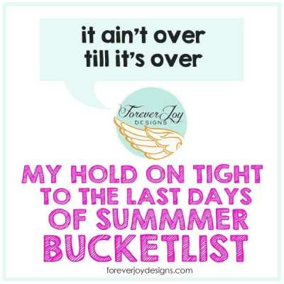 Pushing pause on Summer   My August Bucket List
