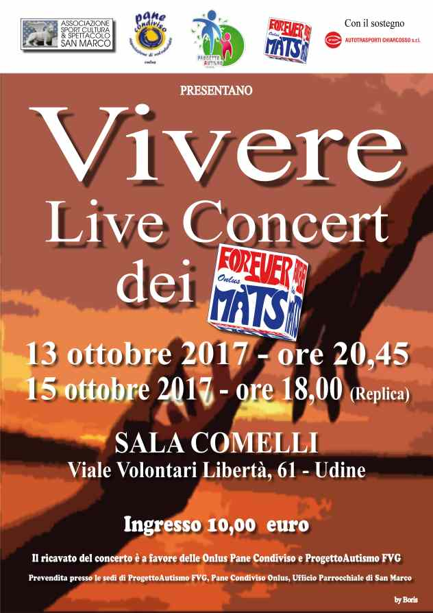 Locandina Live Concert Vivere