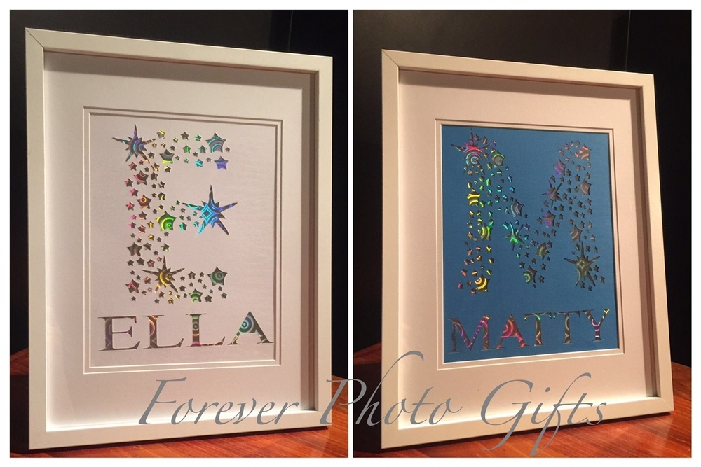 Holographic/Glitter Name Frames - Forever Photo Gifts