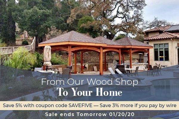 SALE ENDS TOMORROW   Up to 8% Off Pergolas, Pavilions, Furniture & More