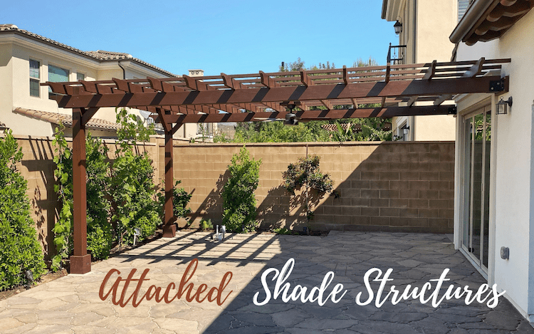 Easy Shade Extensions For Your Home: Attached Pergolas & Pavilions