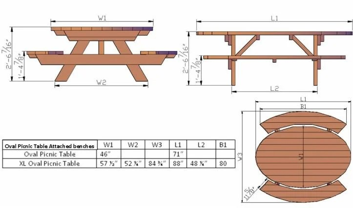 Am Looking For Wood Project Composite Picnic Table Plans