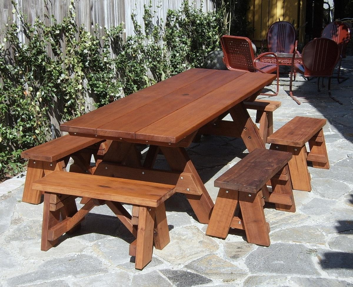 picnic table separate bench plans | margarital64we