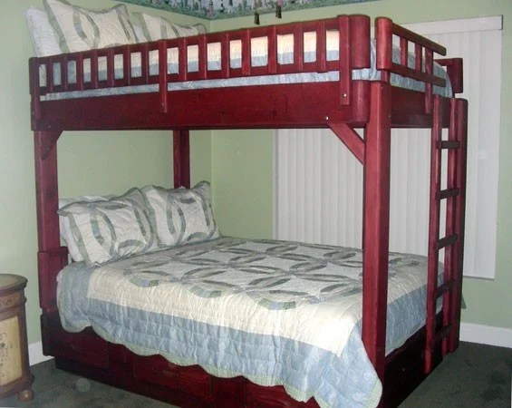 bunk bed plans queen