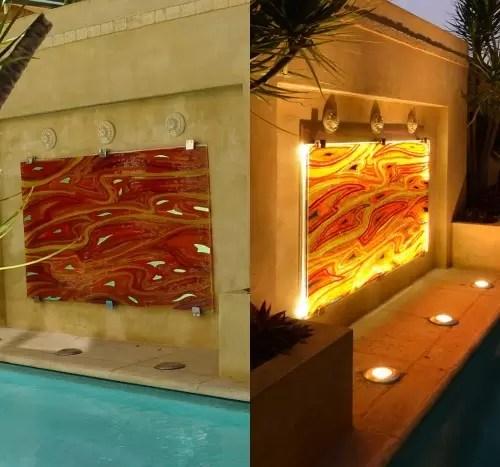 architectural GLASS SPLASH BACK FEATURE ARTWORK
