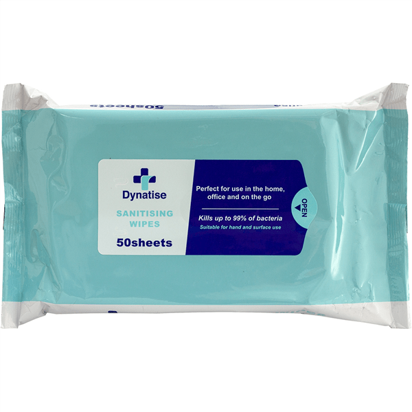Dynatise Hand Sanitiser And Surface Wipes Pack 50