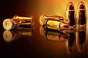 Golden bullets 3d wallpaper