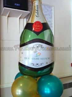 Logo on Champagne Bottle