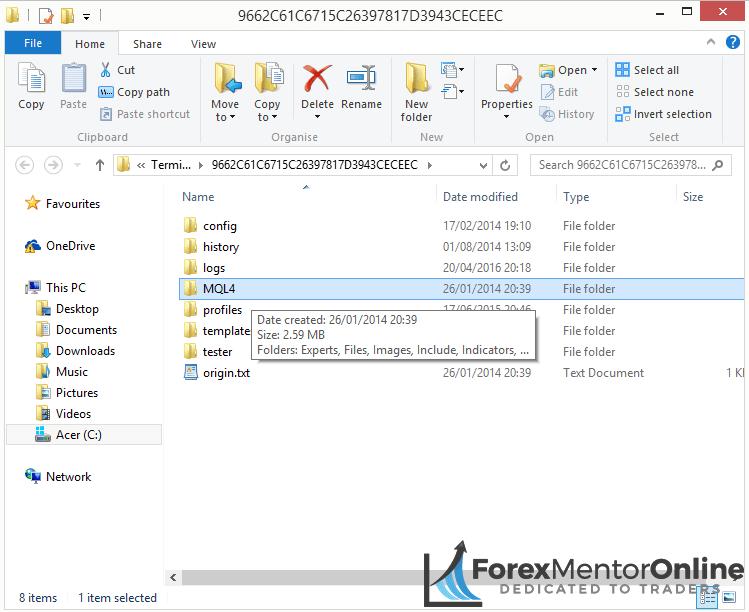 image of mt4 data folder