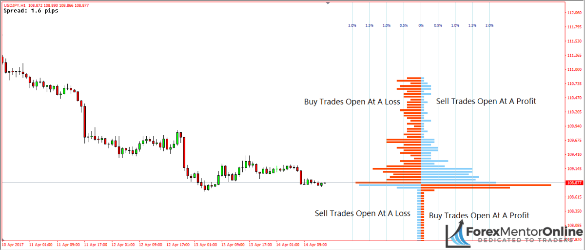 image of order flow indicator showing open positions graph