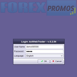 ActTrader Web Login Interface