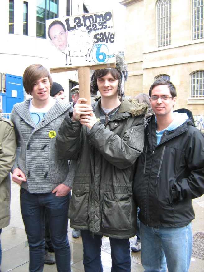 Mikey, Steve, Jim at the BBC Radio 6 Music Protest
