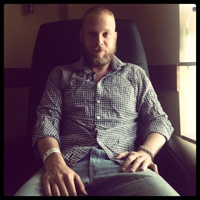 Ted Dwane Mumford & Sons after brain surgery on a blood clot