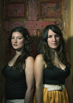 The Unthanks - Rachel and Becky Unthank - Portrait by Andy Gallacher (medium sized)