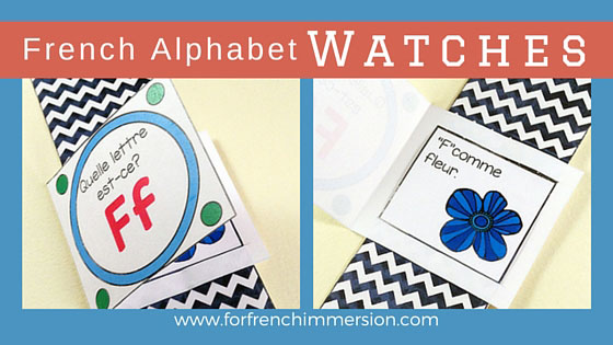 French Alphabet Watches For French Immersion - one watch for each and every letter of the alphabet! En français.