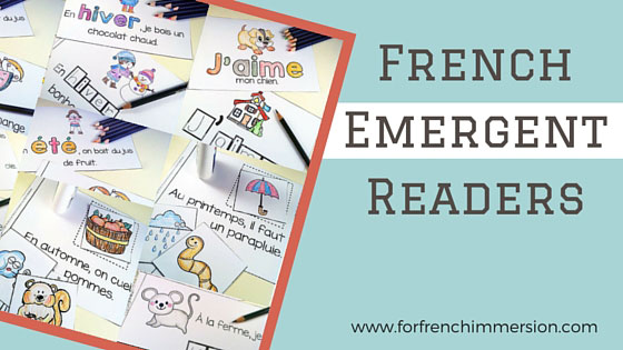 French Emergent Readers: a collection of French printable books for students beginning to read in French. Pour les lecteurs débutants.