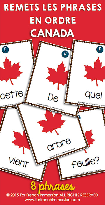 French Scrambled Sentences: your students will enjoy unscrambling these questions about Canada in French! And they'll get even more practice by answering the questions, too. Des phrases mêlées en français.