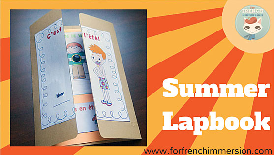 French Summer Lapbook - writing prompts, mini-books (ocean animals). Interactive activities that your students and kids will love - en français
