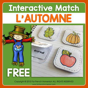 FREE French Fall Vocabulary Flaps: an interactive activity to introduce fall-themed vocabulary to your French students!
