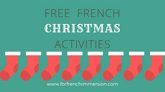 FREE French Christmas Activities - For French Immersion