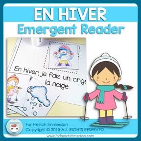 French Emergent Reader: Winter / En hiver. Livre pour les lecteurs débutants. En français.