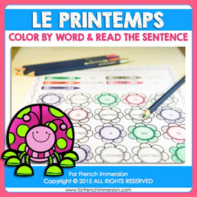 French Spring Color & Read: learning high-frequency words in French has never been more fun!