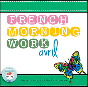 French morning work: APRIL | AVRIL