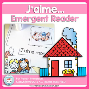 "French Saint Valentin Resources: ""J'aime"" emergent reader. Great for Valentine's Day and Mother's Day!"