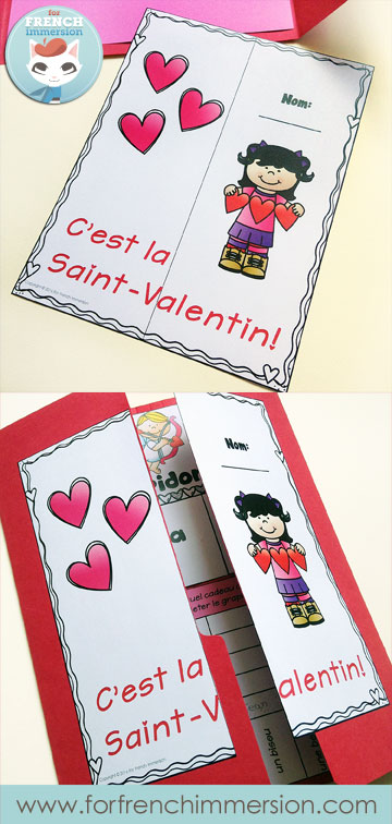 Lapbook de la Saint-Valentin – French Valentine's Day Lapbook: interactive foldable activities, and more French practice! (pictured) lapbook cover