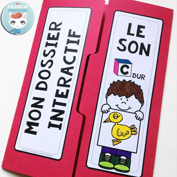French Phonics Resources: dossier interactif – le son C dur. French interactive lapbook to practice the sound C dur, as in Canard, Carotte, éCole, etc