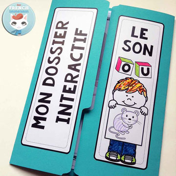 French Phonics Resources: dossier interactif – le son OU. French interactive lapbook to practice the sound OU, as in sOUris, mOUton, etc.