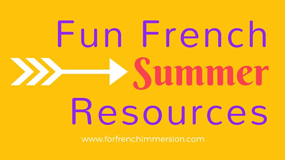 Fun French Summer Resources: a list of FREE printables, videos, and much more! All summer-themed for your French classroom :)
