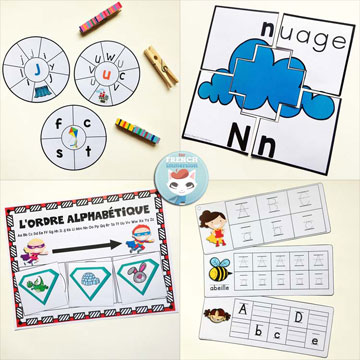 French Alphabet Literacy Centers: tons of practice for your students learning French and the letters!