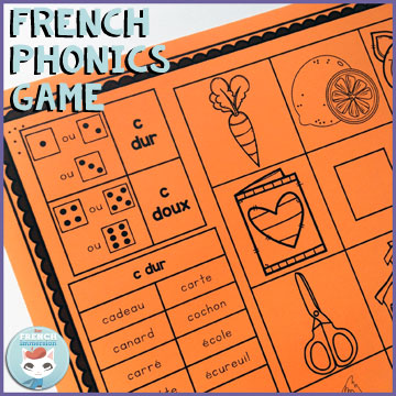 French phonics game: a phonics focused version of the 4-in-a-row game! There are different boards to contrast different groups of sounds, like on/ou/oi, e/é/è, and more!