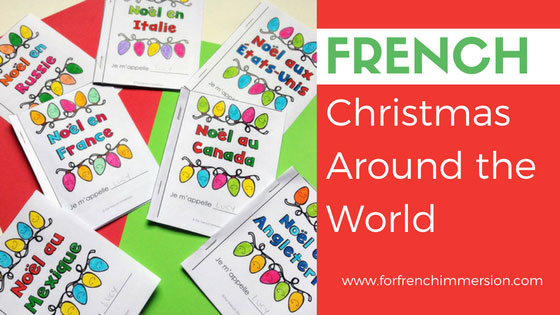 Noël autour du monde. Christmas around the world French resource: a set of mini-books, each one focusing on a different country. Reading practice and cultural awareness resource for Christmas. Pour Noël!