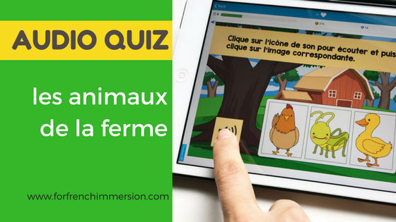 French Farm Animals Vocabulary Audio Quiz | les animaux de la ferme | Boom Learning
