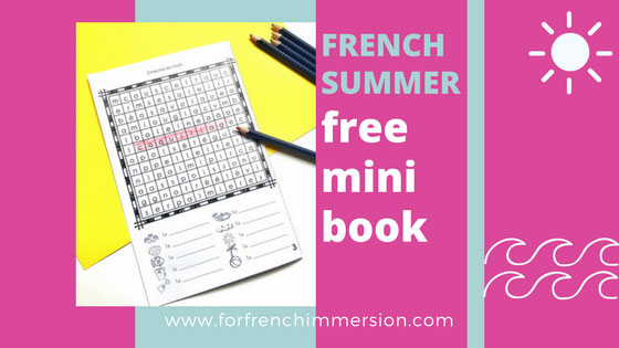 "French Summer Mini-book: a free printable to get your students practicing summer-related vocabulary in French. Includes a ""coloriage magique""!"
