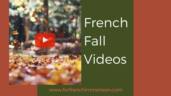 French fall classroom videos: a time-saving list of French fall-themed videos for your French classroom! #frenchimmersion #corefrench #teachingfrench