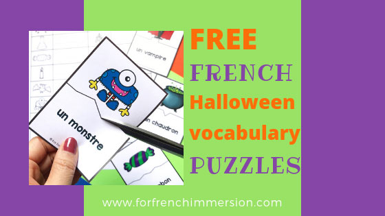 French Halloween Vocabulary Puzzles For French Immersion