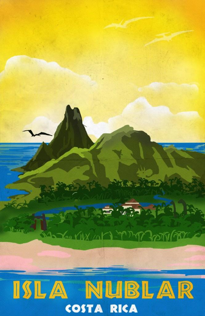 Isla Nublar Jurassic Park Art Deco Travel