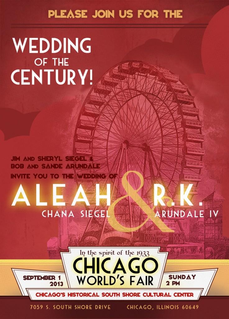 Art Deco World's Fair Wedding Invitation