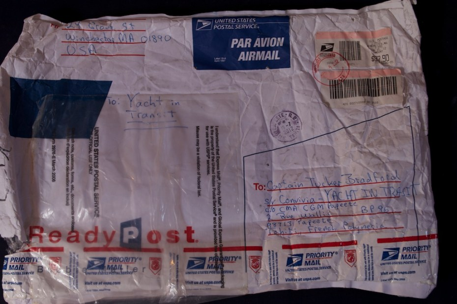Ruby's package from Boston to Papeete