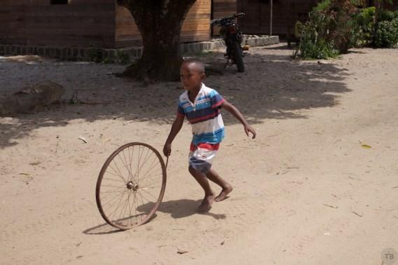 Boy with a wheel