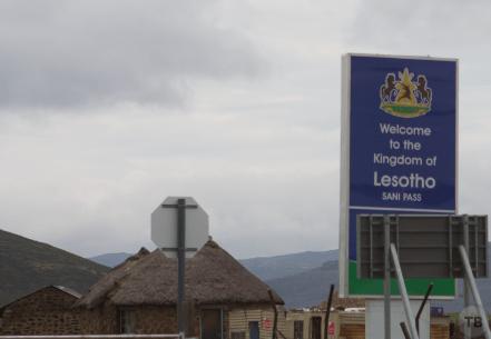 Entering Lesotho