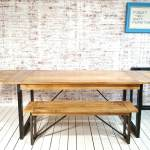 Extending Rustic Industrial Dining Table Large Extendable Table