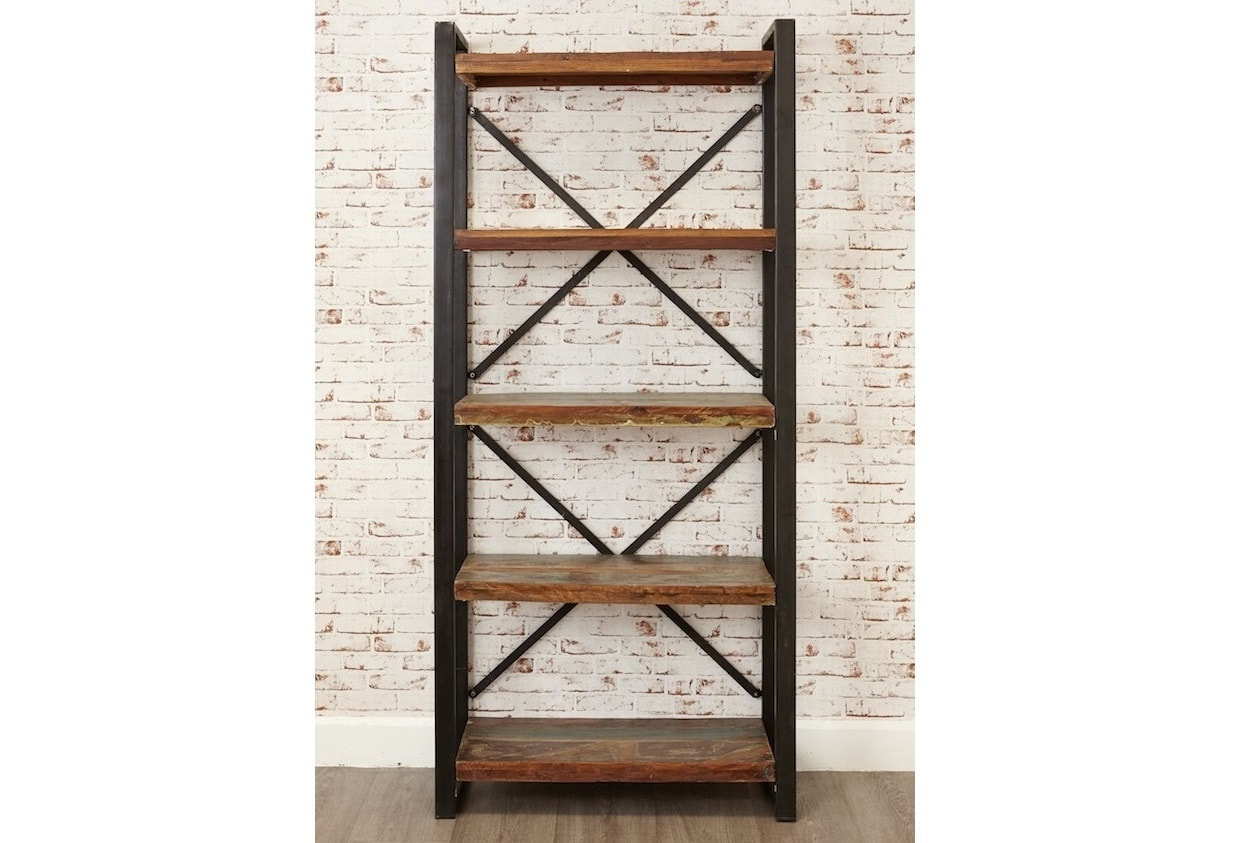 Reclaimed Boat Wood Rustic Industrial Large Bookcase
