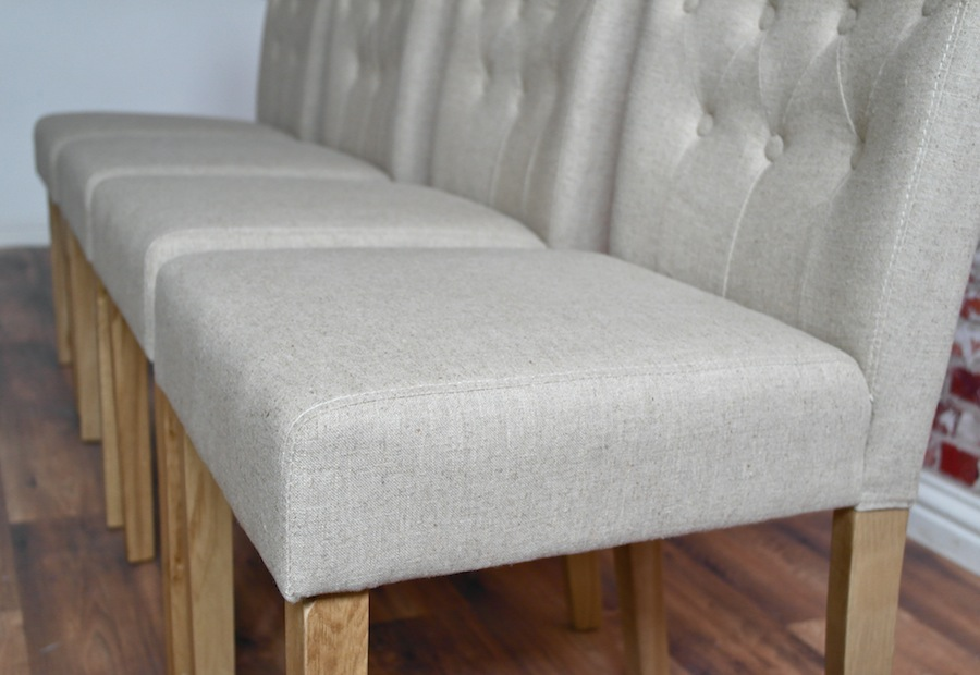 Chesterfield Dining Chair With Stone Upholstery Button