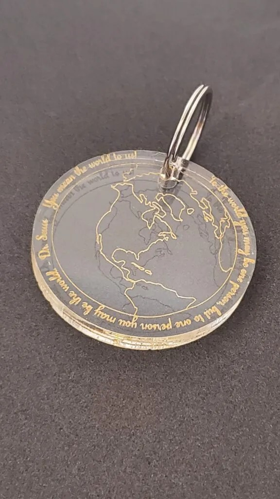 You Mean the World Keychain