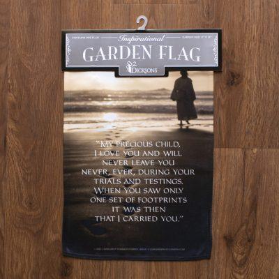 Footprints Poem Garden flag